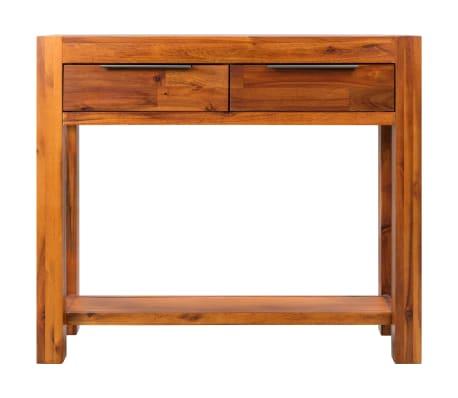 vidaXL Konsolinis staliukas, akacijos medienos masyvas, 86x30x75cm[2/8]