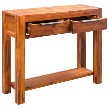 vidaXL Konsolinis staliukas, akacijos medienos masyvas, 86x30x75cm[4/8]