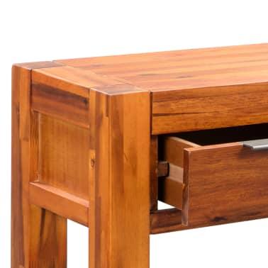 vidaXL Konsolinis staliukas, akacijos medienos masyvas, 86x30x75cm[6/8]