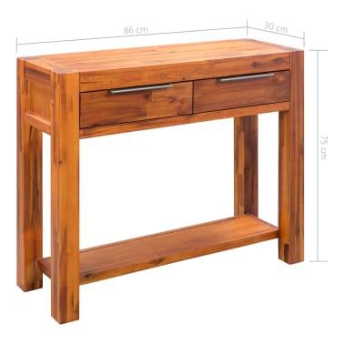 vidaXL Konsolinis staliukas, akacijos medienos masyvas, 86x30x75cm[8/8]