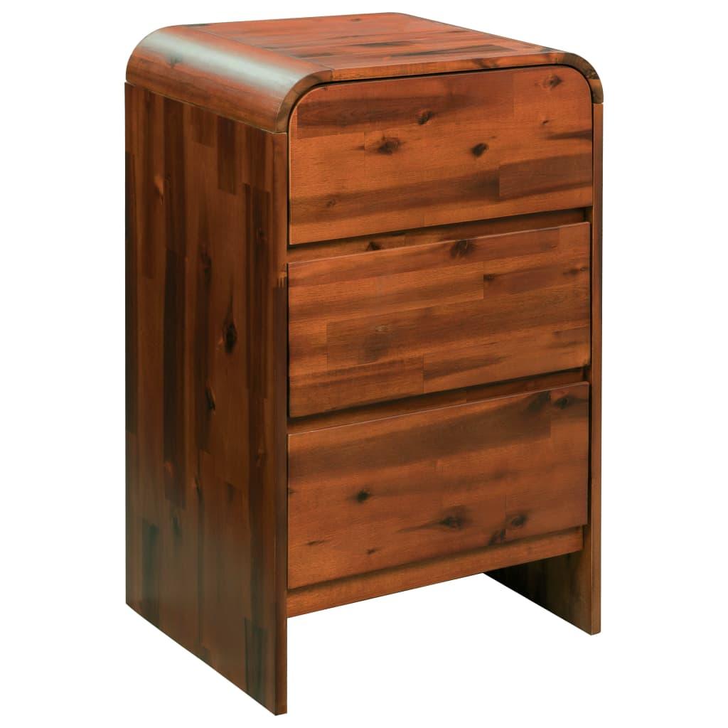 vidaXL Komoda se zásuvkami masivní akáciové dřevo 45 x 37 x 75 cm