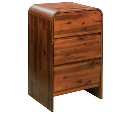 "vidaXL Chest of Drawers Solid Acacia Wood 17.7""x14.5""x29.5"""