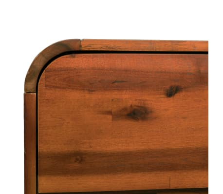 "vidaXL Chest of Drawers Solid Acacia Wood 17.7""x14.5""x29.5""[7/8]"