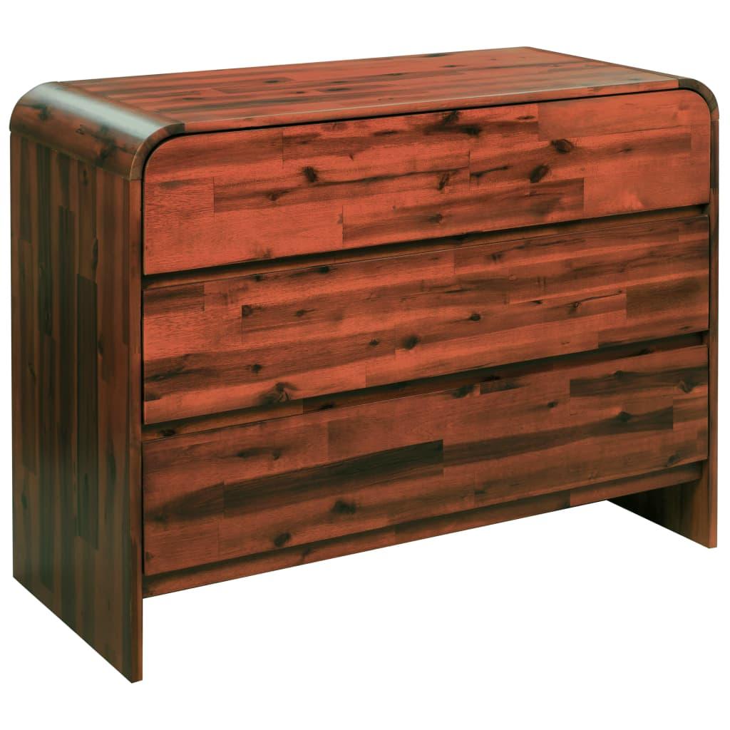 vidaXL Cufăr cu sertare, lemn masiv de acacia, 90 x 37 x 75 cm poza 2021 vidaXL