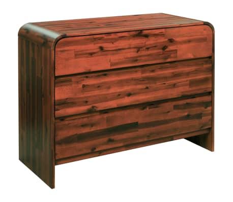 vidaXL Komoda su stalčiais, akacijos medienos masyvas, 90x37x75cm[1/7]