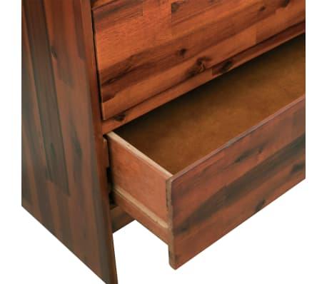 vidaXL Komoda su stalčiais, akacijos medienos masyvas, 90x37x75cm[5/7]