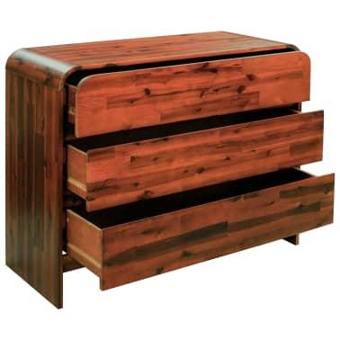 vidaXL Komoda su stalčiais, akacijos medienos masyvas, 90x37x75cm[2/7]