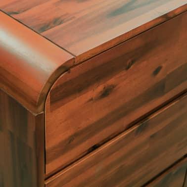 vidaXL Komoda su stalčiais, akacijos medienos masyvas, 90x37x75cm[6/7]