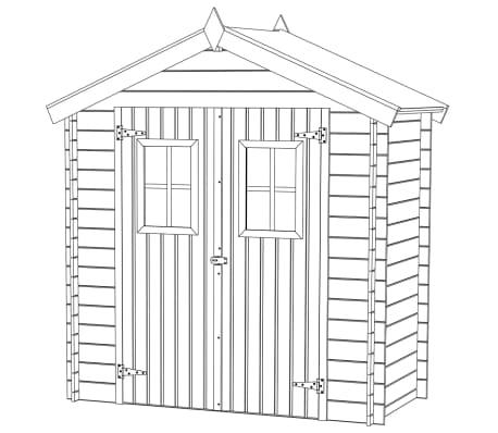 vidaXL Tuinhuis 2x1 m 19 mm hout[7/9]