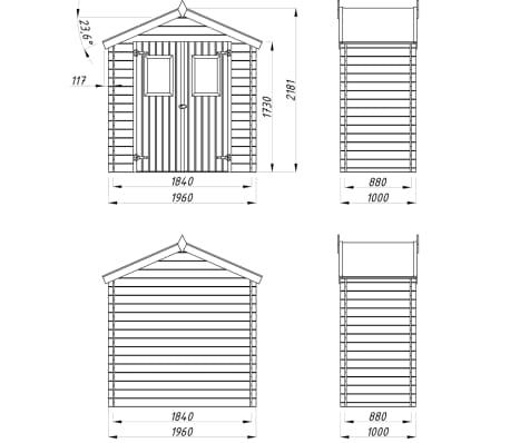 vidaXL Tuinhuis 2x1 m 19 mm hout[8/9]