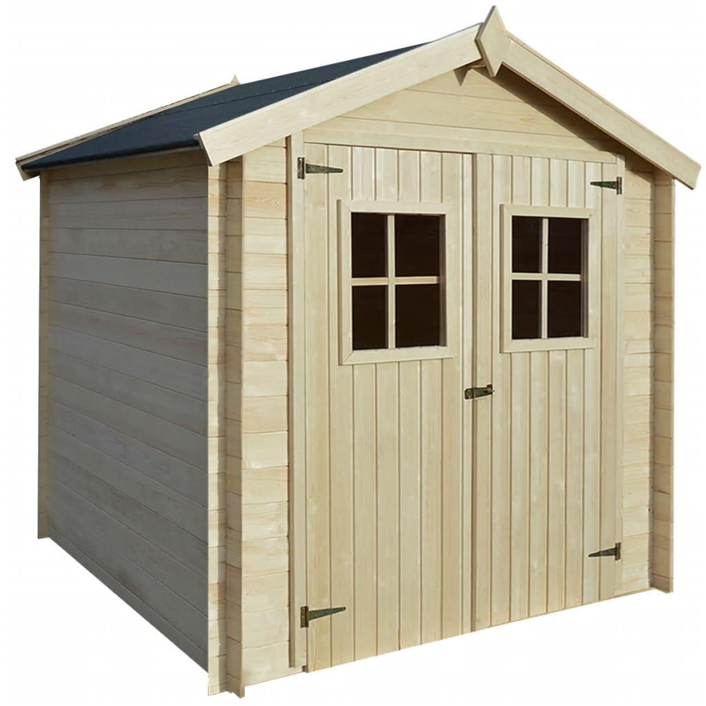 vidaXL Șopron, cabană bușteni, căsuță de grădină, 2 x 2 m, 19 mm, lemn poza vidaxl.ro