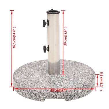 vidaXL Parasol Base Granite Round 48.5 lb[9/9]