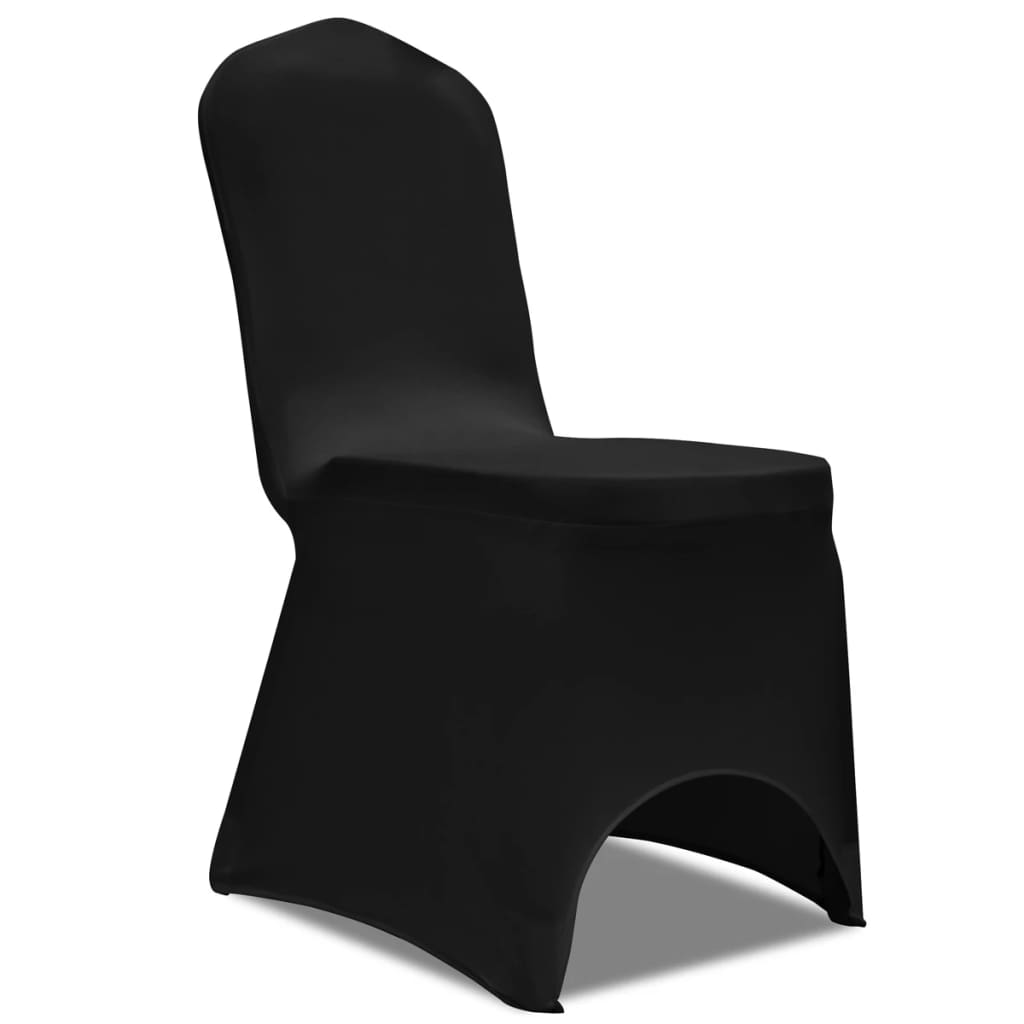 Image of vidaXL 100 pcs Stretch Chair Covers Black