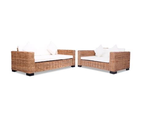 acheter vidaxl ensemble de canap s 15 pcs rotin naturel pas cher. Black Bedroom Furniture Sets. Home Design Ideas