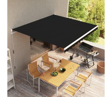 acheter vidaxl auvent r tractable anthracite 300 cm pas cher. Black Bedroom Furniture Sets. Home Design Ideas