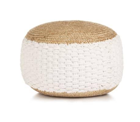 vidaXL Pouf fum/é Morbido Comodo Sedile Relax Decorativo Robusto Sgabello Poggiapiedi Sedia Arredo Salotto in Velluto di Cotone 40x30 cm Antracite