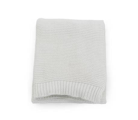 vidaXL Stickad filt bomull 130x171 cm naturvit[2/4]