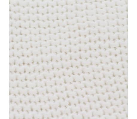 vidaXL Stickad filt bomull 130x171 cm naturvit[4/4]