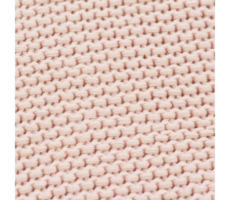 vidaXL Stickad filt bomull 130x171 cm rosa[4/4]