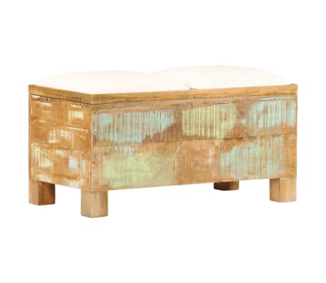 vidaXL Suolas su daiktadėže, perdirbta mediena, 80x40x40cm
