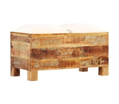 vidaXL Suolas su daiktadėže, perdirbta mediena, 80x40x40cm[12/12]