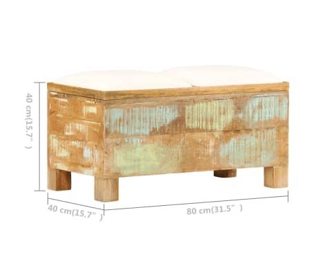 vidaXL Suolas su daiktadėže, perdirbta mediena, 80x40x40cm[7/12]