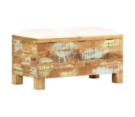 vidaXL Suolas su daiktadėže, perdirbta mediena, 80x40x40cm[8/12]