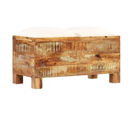 vidaXL Suolas su daiktadėže, perdirbta mediena, 80x40x40cm[9/12]