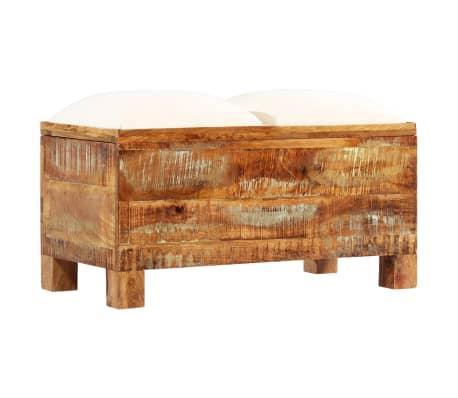 vidaXL Suolas su daiktadėže, perdirbta mediena, 80x40x40cm[10/12]