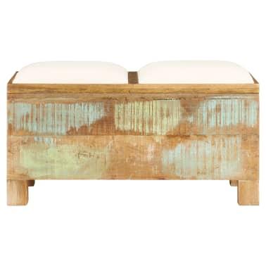 vidaXL Suolas su daiktadėže, perdirbta mediena, 80x40x40cm[2/12]