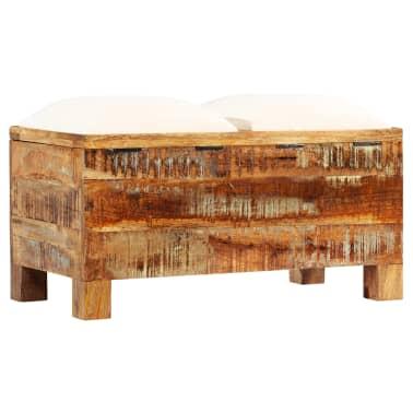 vidaXL Suolas su daiktadėže, perdirbta mediena, 80x40x40cm[11/12]
