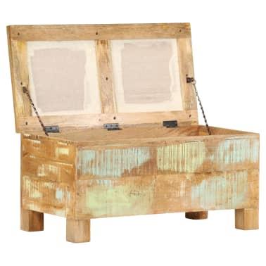 vidaXL Suolas su daiktadėže, perdirbta mediena, 80x40x40cm[3/12]