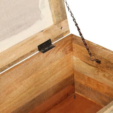 vidaXL Suolas su daiktadėže, perdirbta mediena, 80x40x40cm[6/12]