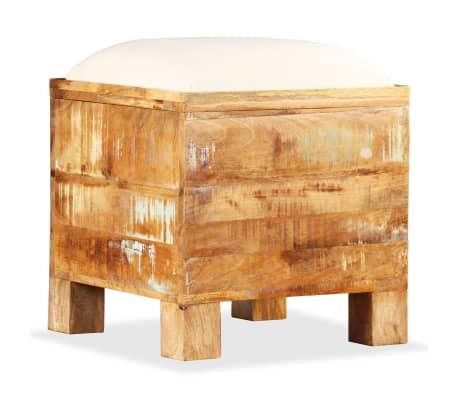 vidaXL Sitzbank mit Stauraum Recyclingholz Massiv 40 x 40 x 45 cm ...