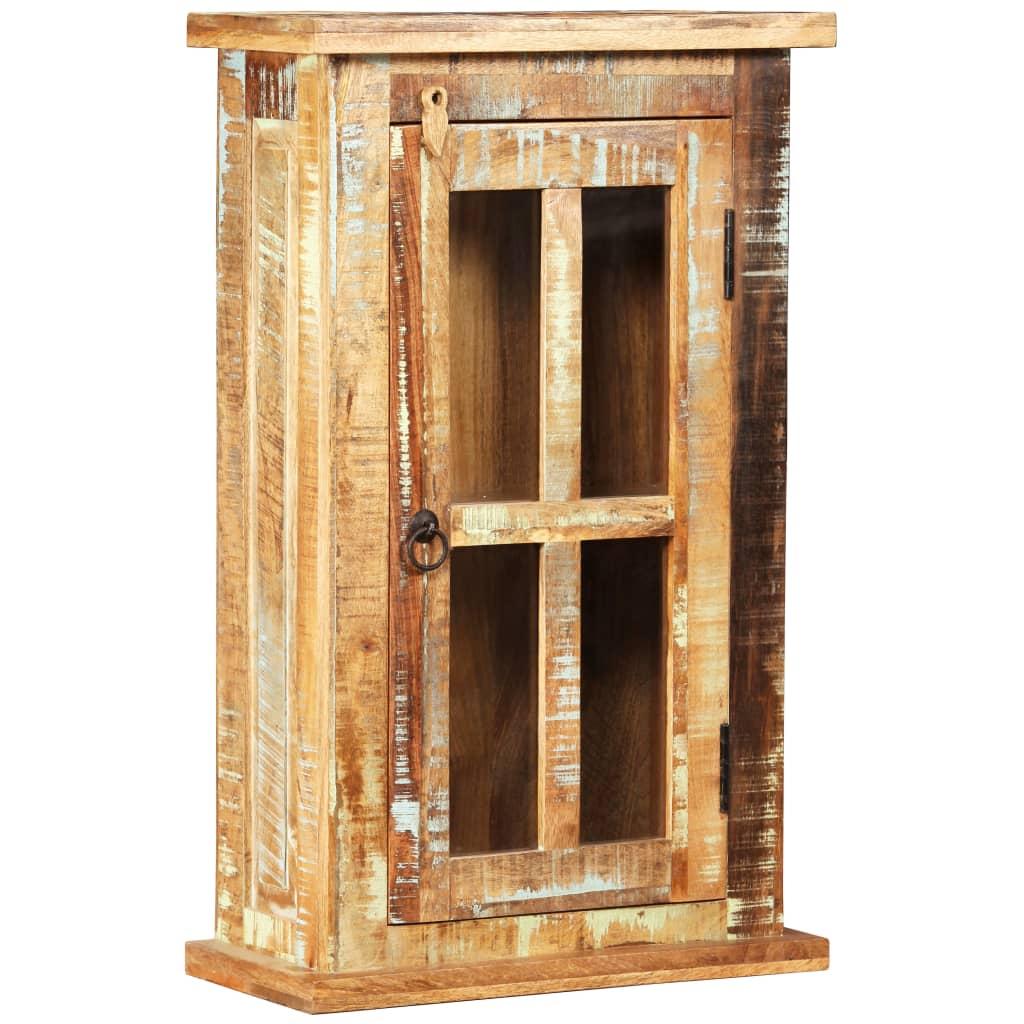 Taaskasutatud puidust seinakapp 44 x 21 x 72 cm