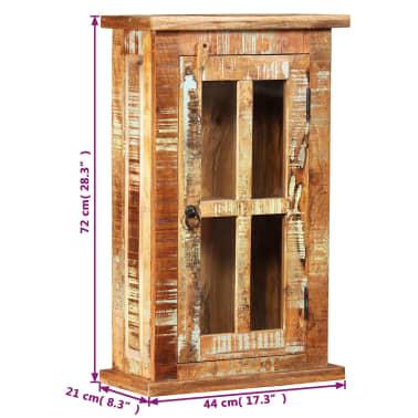 vidaXL Nástěnná skříňka masivní recyklované dřevo 44 x 21 x 72 cm[7/11]