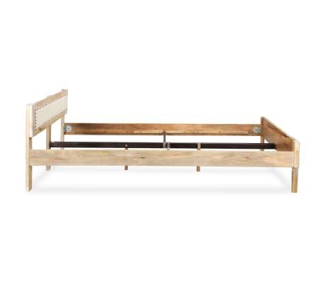 vidaXL Lovos rėmas, 140x200 cm, mango medienos masyvas[5/17]