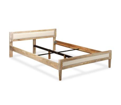 acheter vidaxl cadre de lit bois massif de manguier 140 x 200 cm pas cher. Black Bedroom Furniture Sets. Home Design Ideas
