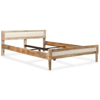 vidaXL Lovos rėmas, 140x200 cm, mango medienos masyvas[16/17]