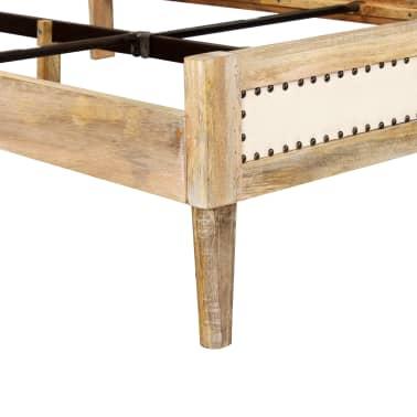 vidaXL Lovos rėmas, 140x200 cm, mango medienos masyvas[9/17]