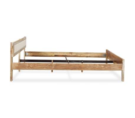 vidaxl cadre de lit bois massif de manguier 160 x 200 cm416 - Cadre De Lit Bois Massif