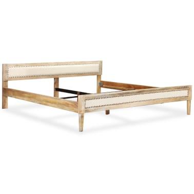 acheter vidaxl cadre de lit bois massif de manguier 180 x 200 cm pas cher. Black Bedroom Furniture Sets. Home Design Ideas