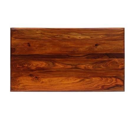 vidaXL Kavos staliukas su lenkt. kojomis, raus. dalb. med, 110x60x39cm[4/13]