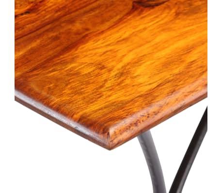 vidaXL Kavos staliukas su lenkt. kojomis, raus. dalb. med, 110x60x39cm[5/13]