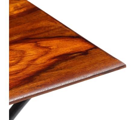 vidaXL Kavos staliukas su lenkt. kojomis, raus. dalb. med, 110x60x39cm[6/13]