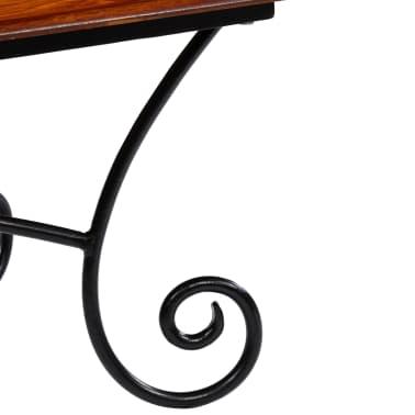 vidaXL Kavos staliukas su lenkt. kojomis, raus. dalb. med, 110x60x39cm[8/13]