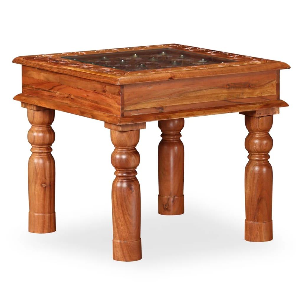 vidaXL Măsuță de cafea, 45 x 45 x 40 cm, lemn masiv de acacia poza vidaxl.ro