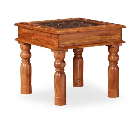 vidaXL Coffee Table Solid Acacia Wood 45x45x40 cm