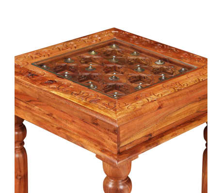 Vidaxl table basse bois d 39 acacia massif 45 x 45 x 40 cm for Table basse acacia massif