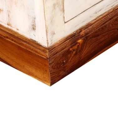 vidaXL Kavos staliukas, rausvosios dalb. ir mango med., 90x50x35cm[6/13]